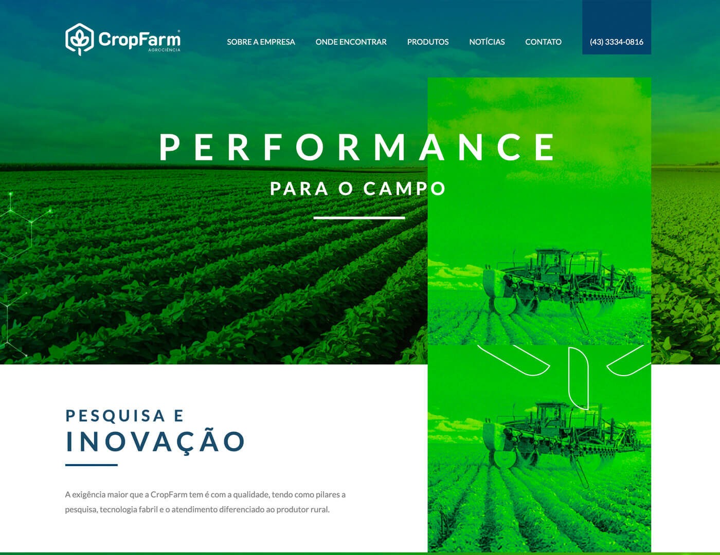 Criação de site para agronegocio