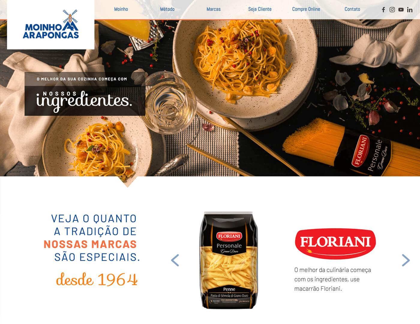 Criação de site para indústria alimentos