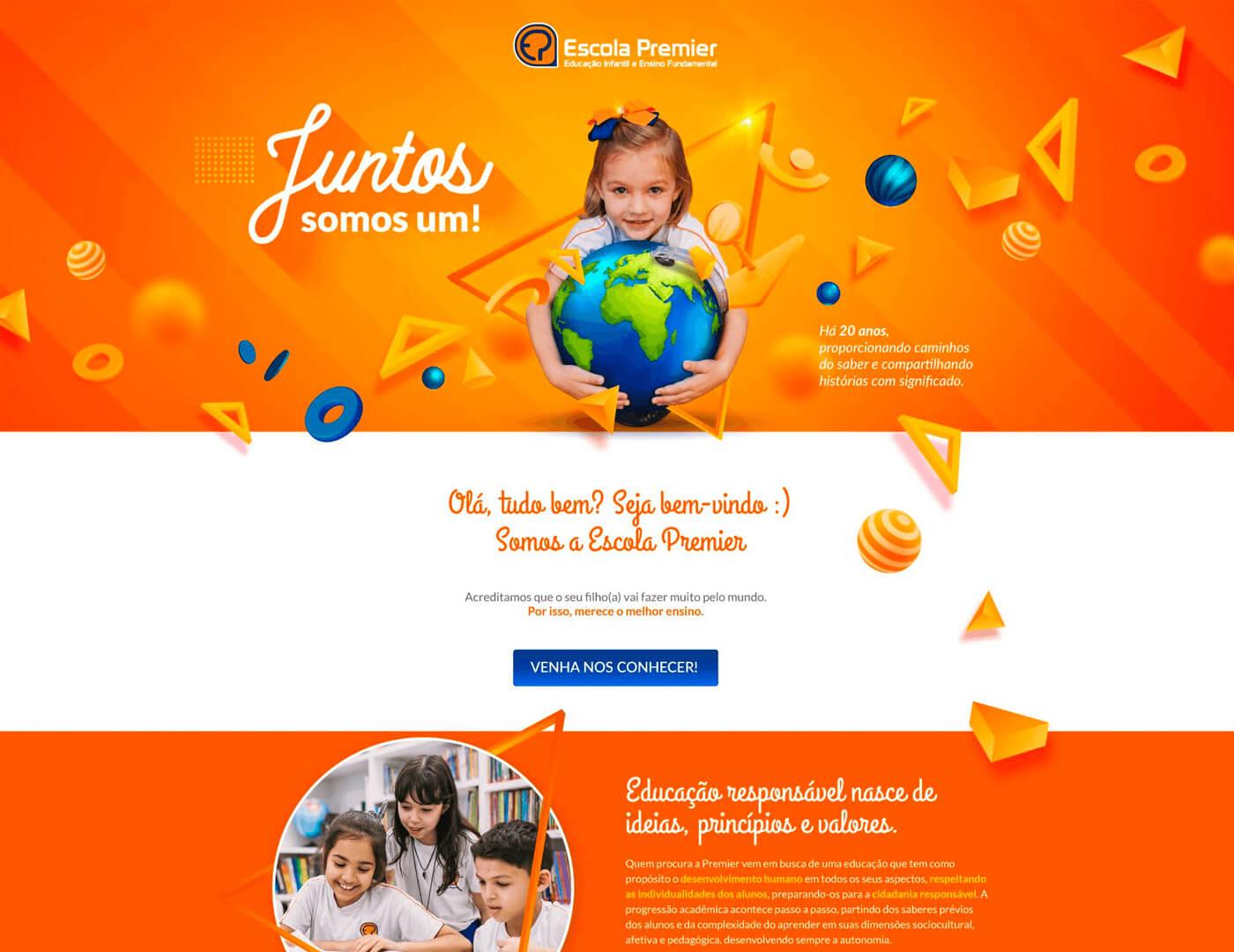 Criação de site para escola infantil